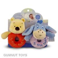 Winnie the Pooh Ring Rattles - Pooh and Eyore