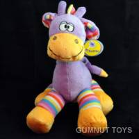 Large Gazzle Giraffe Rattle - Purple