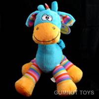 Large Gazzle Giraffe Rattle - Blue