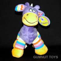Gazzle Giraffe Rattle - Purple