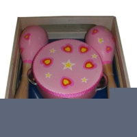 Maracas and Tambourine Set - Heart